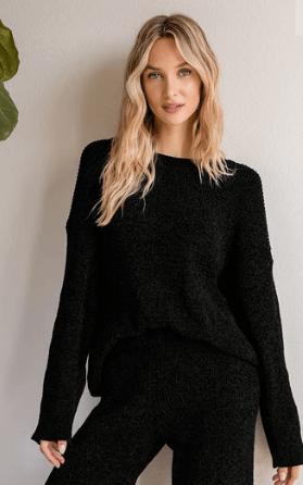 Black Chenile Sweater