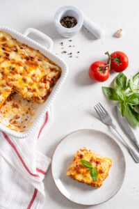 traditional,italian,lasagna,with,vegetables,,minced,meat,,cheese,bolognese,and