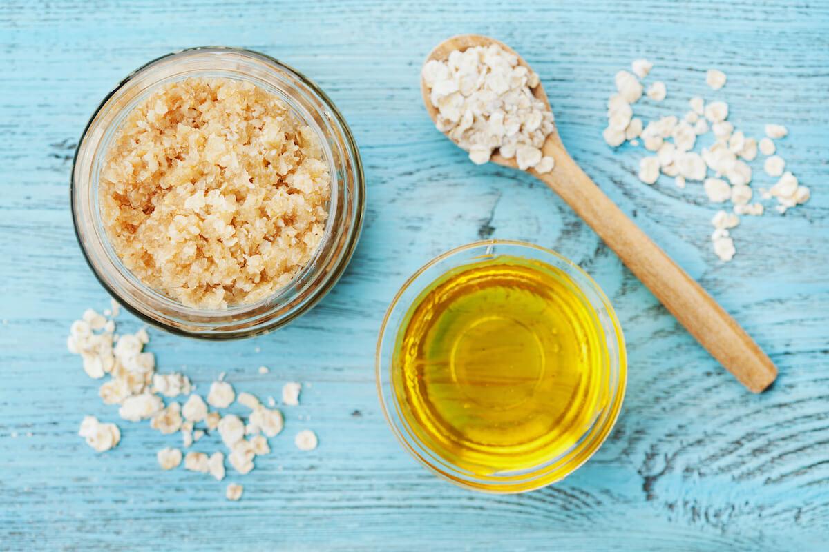 DIY Calming Chamomile and Oatmeal Body Rub